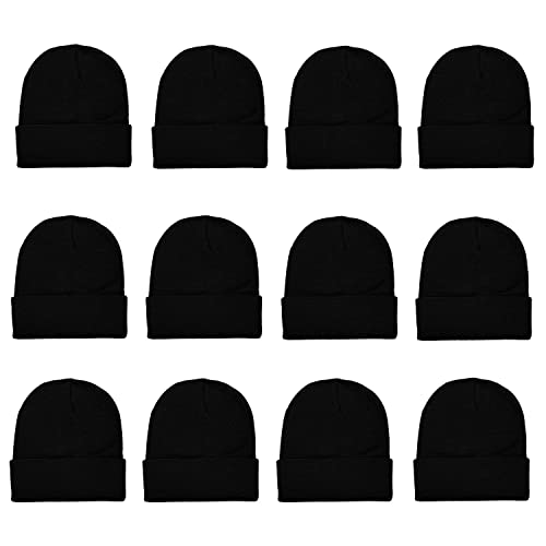 4c593ab259ecf Gelante Unisex Beanie Cap Knitted Warm Solid Color and Multi-Color Multi- Packs