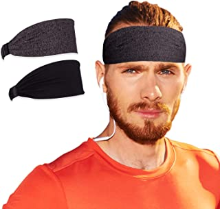Elli Athletic Headbands - high Performance, Moisture-Wicking Stretch Fabric | Perfect for Any Sport, Exercise, or Active Lifestyle | Run, Lift, Play, Ride Free from unwanted Sweat | Black Grey