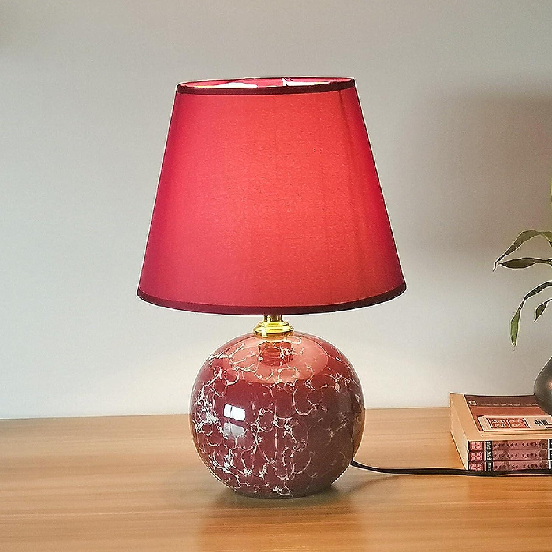 Ceramic Super San Antonio Mall popular specialty store Modern Bedroom Bedside Table W Children's Room Lamp Pink
