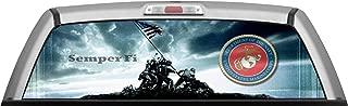 ITI Global Designs Marine Corp 008 Window WRAP : USA : Red White Blue Iwo Jima : Truck Car Rear Decal Sticker