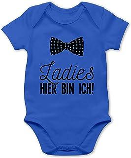 Shirtracer Sprüche Baby - Ladies Hier Bin ich Fliege - Baby Body Kurzarm für Jungen und Mädchen