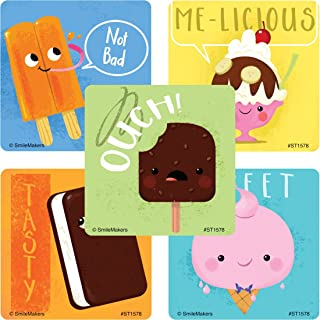 SmileMakers Ice Cream Treat Stickers - Prizes 100 Per Pack