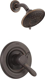 Delta Faucet Lahara 17 Series Dual-Function Shower Trim Kit with 5-Spray Touch-Clean Shower Head, Venetian Bronze T17238-RB (Valve Not Included)