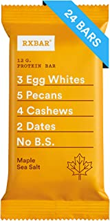 RXBAR Real Food Protein Bar, Maple Sea Salt, Gluten Free, 1.83 Ounce (Pack of 24)
