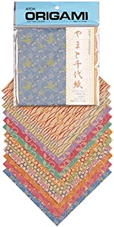 Aitoh Craft Chiyogami Origami Paper, 5.875 by 5.875-Inch, 48 Sheets