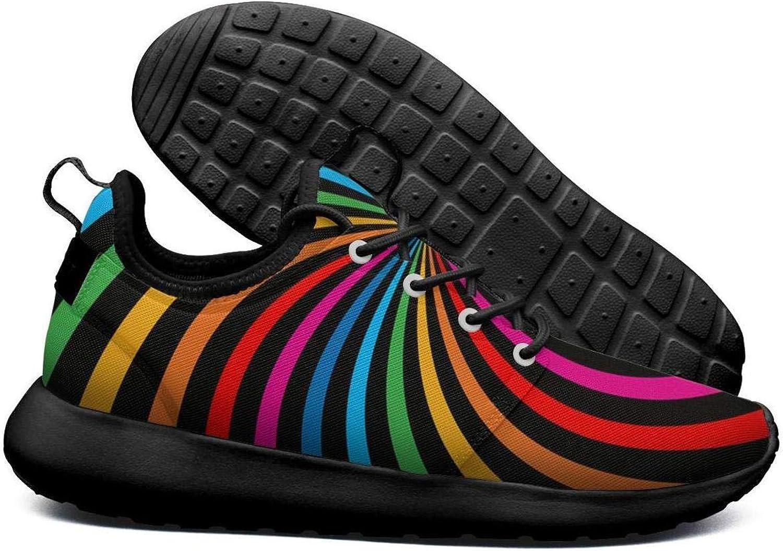 Opr7 80'S Rainbow Sticker Running shoes Lightweight Women Sneaker Workout Quick Dry