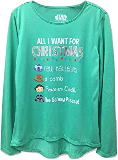 Girls Star Wars 'All I Want for Christmas' Long Sleeve Graphic Shirt - Green