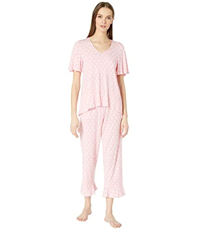 Kate Spade New York Cropped Pajama Set (Peach Dot) Women