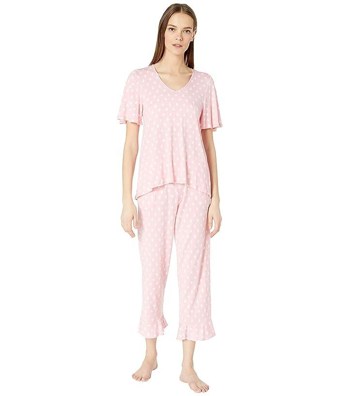 Kate Spade New York Cropped Pajama Set (Peach Dot) Women