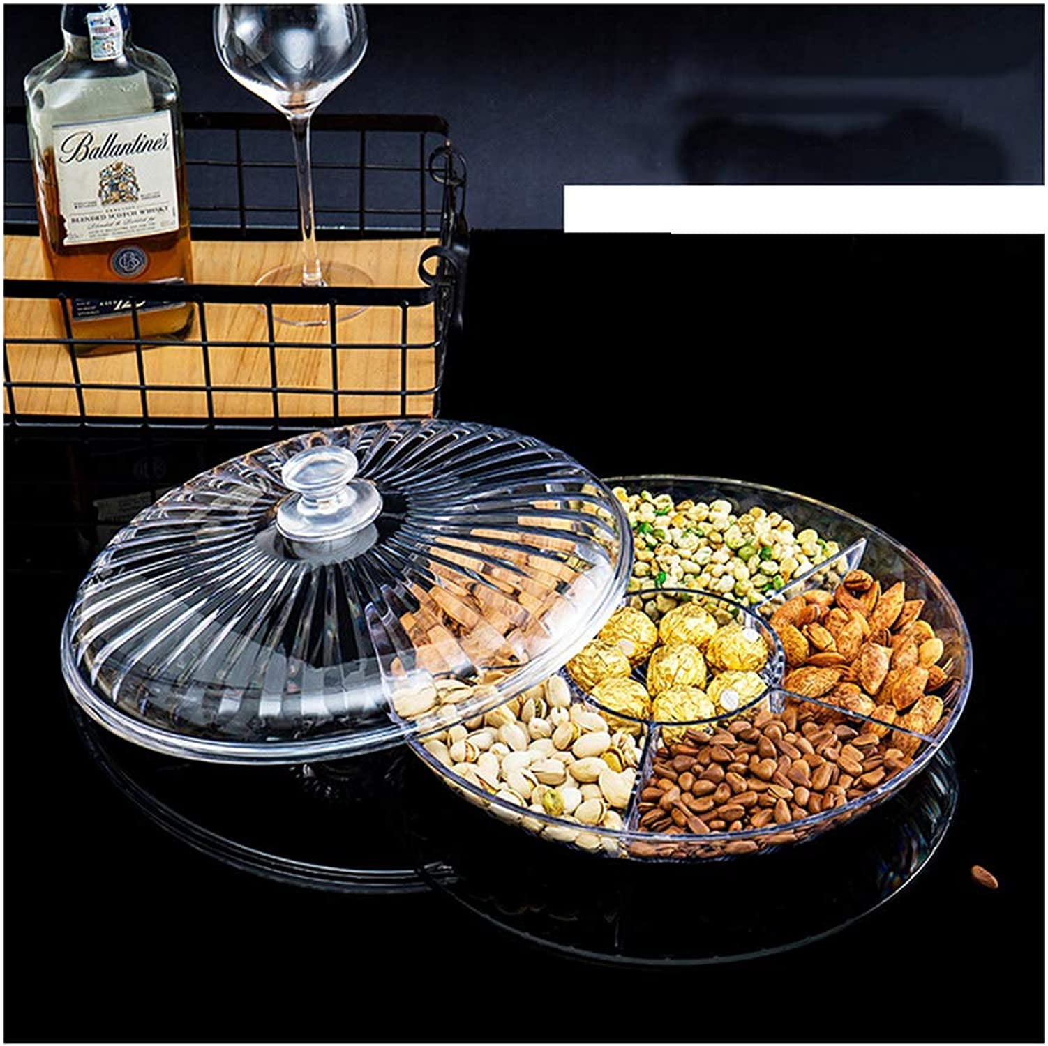 BEN-YI Panier de Fruits Assiette de Fruits Assiette de Fruits Assiette de Fruits Plateau de Fruits -Corbeille de Fruits (Couleur   Clair, Taille   M)