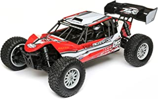 Losi Tenacity DB Desert Buggy Brushless 4WD RC Truck 4x4 RTR with DX2E Transmitter with AVC (Battery and Charger Not Included), 1/10 Scale (Red/Grey)