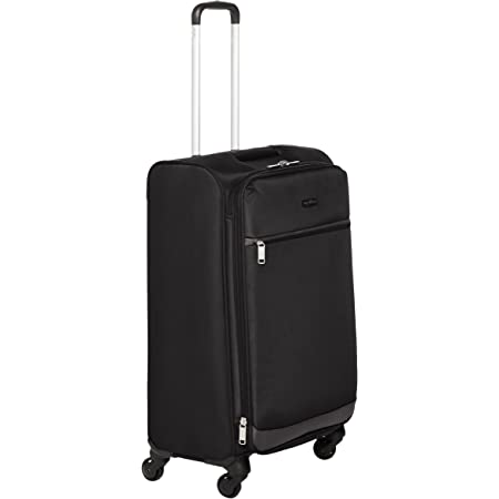 Amazon Basics Softside Spinner Luggage Suitcase - 30.9 Inch, Black