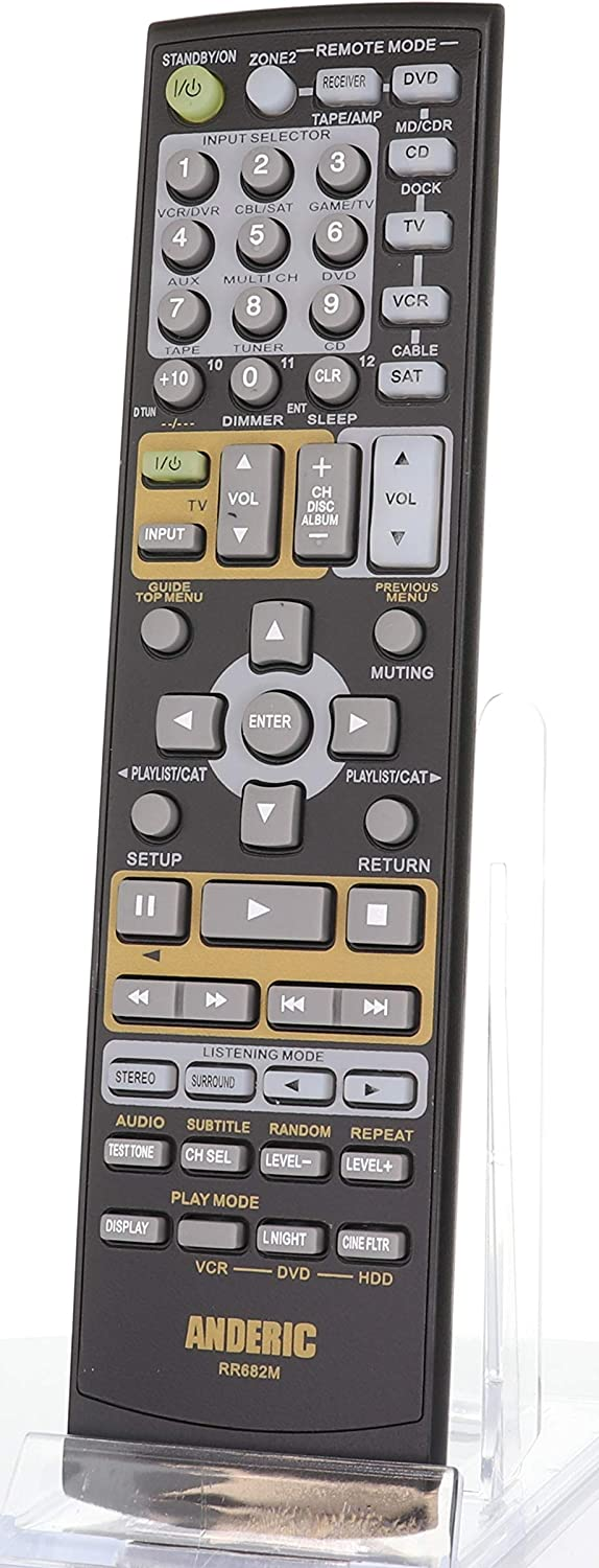 Anderic Replacement Cheap SALE Start for Onkyo Audio Cheap mail order shopping Receiver Re Control Remote -