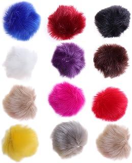 ULTNICE 12pcs Faux Fur Pom Poms bola esponjosa DIY para