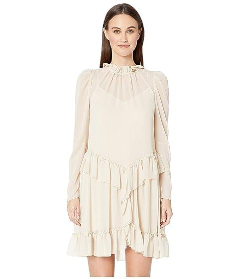 See by Chloe Textured Georgette Peplum Dress