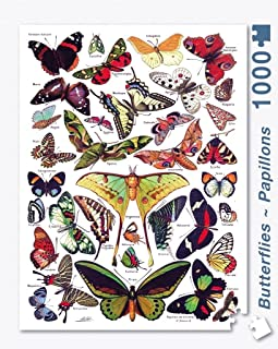 New York Puzzle Company - Butterflies ~ Papillons - 1000 Piece Jigsaw Puzzle