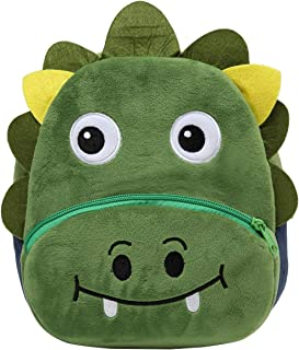 Toddler Backpack for Boys and Girls,KASQO Small Cute Animal 3D Soft Plush Backpack for Baby