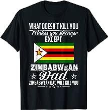 Zimbabwe Dad Gifts For Fathers Day Shirt Zimbabwe Flag