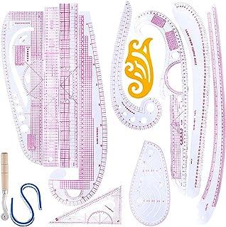 FLAMEER 13ピース 裁縫用 定規 ルーラー メジャー セット 洋裁 多機能 ストレート 曲線 雲型 手芸 DIY