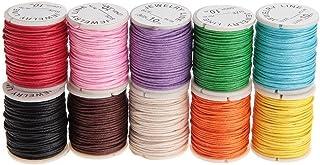 rosenice gewachste Baumwoll-Schnur, Schmuck-Perlen-Aufreihmaterial, 10 m x 1 mm – 10 Stück