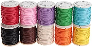 WINOMO 10 Rolls Waxed Cotton Cord Thread 10M 1MM Jewellery Making Cord