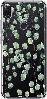 Suhctup Compatible con Xiaomi10 Funda Flor de TPU Transparente Diseño de Flores Patrón Cárcasa Ultra Fina Suave con Dibuj...