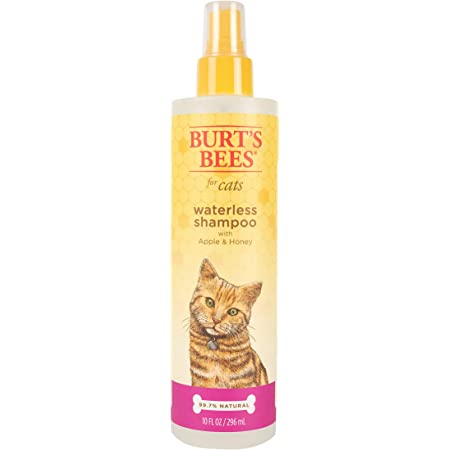 Burt's Bees for Cats Waterless Shampoo with Apple & Honey | Cat Waterless Shampoo Spray | Cruelty Free, Sulfate & Paraben Free, pH Balanced for Cats - Made in USA, 10 Oz