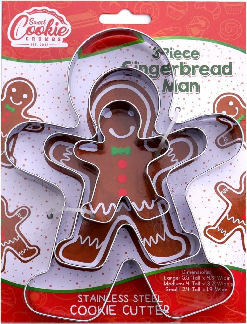 Gingerbread Man Cookie Cutter Set - 3 Piece - Large 5.8