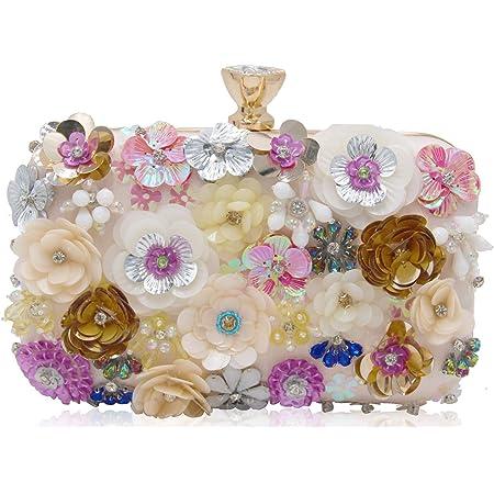 Multicoloured Floral Pouch Bag Pair