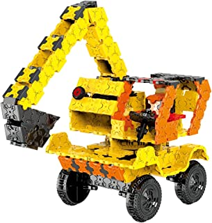 WEofferwhatYOUwant Educational Building Set Construction Truck, STEM 3-D Puzzle Uses 743 Flatblocks, Creates Different Brick Designs for Children | Figures Level 6 | Collect Them All