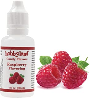 Hobbyland Candy Flavors (Raspberry Flavoring, 1 Fl Oz), Raspberry Concentrated Flavor Drops