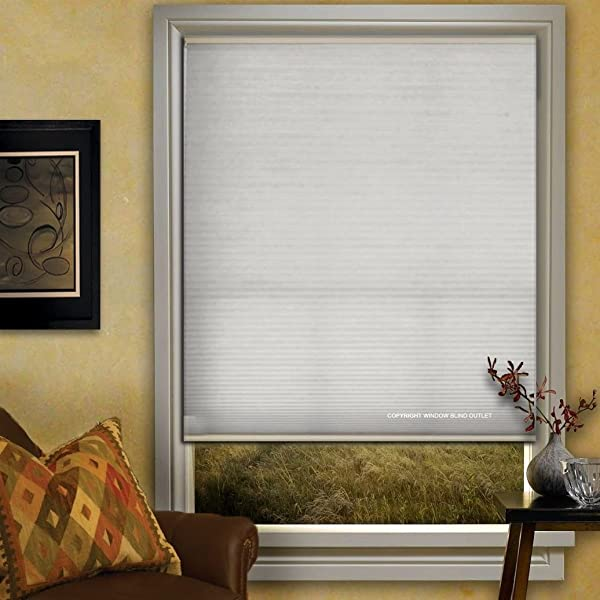 Window Blind Store Light Filtering Cordless Cellular Shade White 47x64