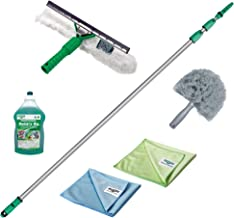 Unger Conservatory Cleaning Kit (Including Cleaning Product, Window Wiper, Extension Rod, Microfibre Cloths, Streak Free C...
