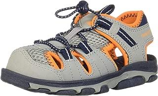 Unisex Kid's Adirondack Sandal Sport, Grey/Orange, P1 M US Little