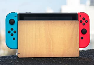Wood Rustic Light Wooden Cedar Background Nintendo Switch Dock Vinyl Decal Sticker Skin by Moonlight Printing