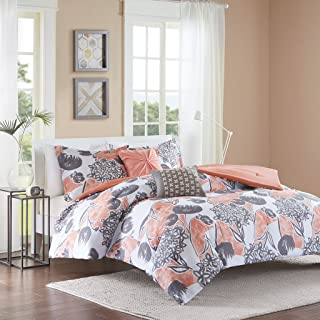 Intelligent Design ID10-732 Marie Comforter Set Full/Queen Coral
