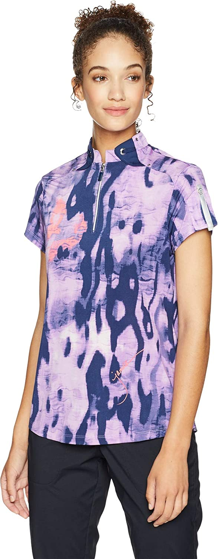 Jamie Sadock Womens Camo Print Short Sleeve Top