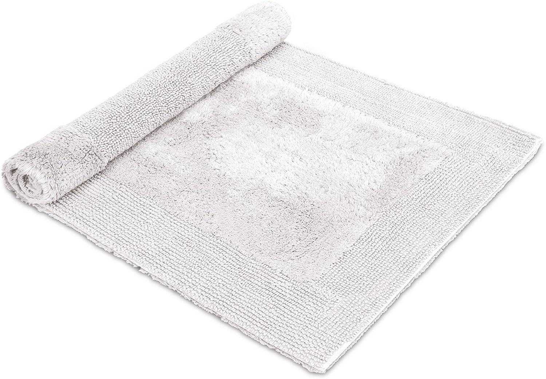 Mve Loft getuftete Badematte 60 x 100 cm aus 100% Baumwolle, snow
