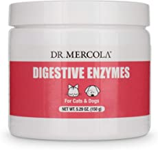 Dr. Mercola Digestive Enzymes for Pets - Dietary Supplement for Cats & Dogs - Contains 5 Enzymes - 5.26 oz
