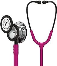 3M Littmann Classic III Monitoring Stethoscope, Mirror - Finish Chestpiece, Raspberry Tube, Smoke Stem and Headset, 27 inch, 5862