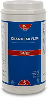 Rx Clear Granular Floc | Swimming Pool and Spa Flocculant Chemical | for Use with Sand Filters | Coagulates Dust for Easy Water Cleaning | Keeps Water Crystal Clear | 5 Pound Bottles | Single Pack