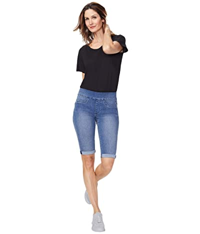 NYDJ 13 Pull-On Shorts with Roll Cuffs (Clean Brickell) Women