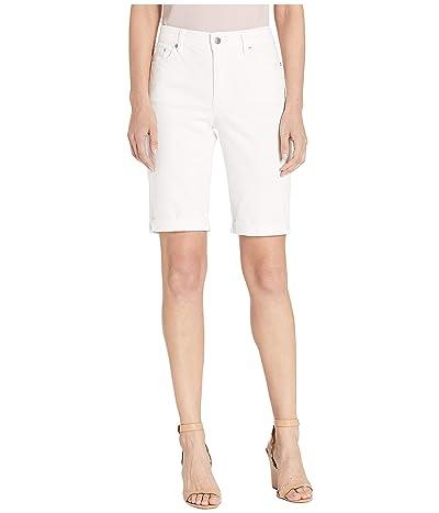 LAUREN Ralph Lauren Rolled-Cuff Denim Bermuda Shorts (White) Women