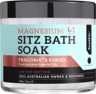 Soothic Sitz Bath Epsom salts for soaking, Hemorrhoid Treatment, Postpartum Care, Tea Tree oil, Kunzea - Fragonia, Natural & Native to Australia 2 lbs