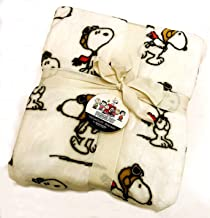 Peanuts Gang/Snoopy Red Baron Micro-Plush Velvet Soft Full/Queen Blanket Throw