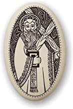 Touchstone Pottery St Andrew Porcelain Oval Medal on Braided Cord   Patron Saint of Scotland, Russia and Fishermen