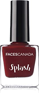 Faces Splash Nail Enamel, Maroon 401, 8 ml