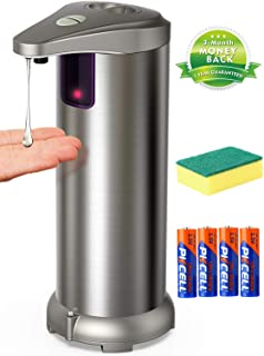 Automatic Soap Dispenser, Touchless Soap Dispenser Equipped Stainless Steel w/Infrared..