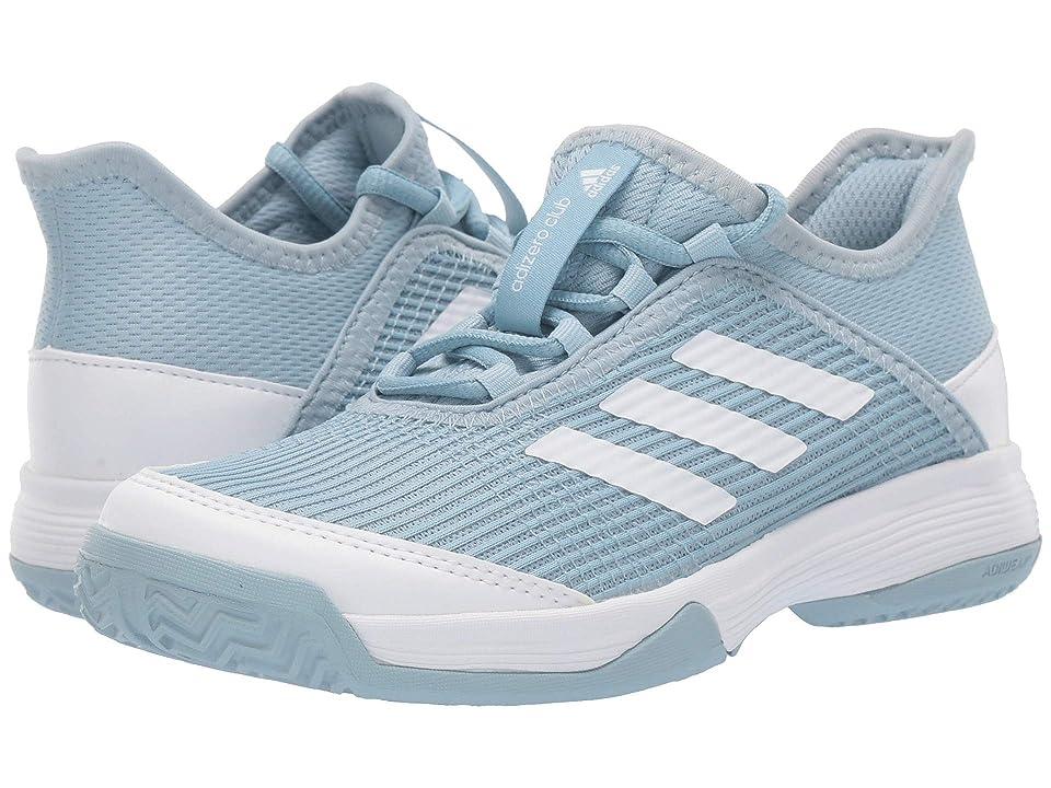 adidas Kids Adizero Club Tennis (Little Kid/Big Kid) (Ash Grey/Footwear White/Footwear White) Kids Shoes
