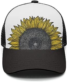 Sunflowers Snapback Adjustable Hats Mesh Trucker Baseball Cap for Men Women Visor